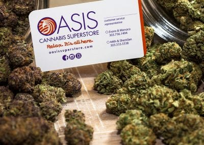 Digital 303 Marijuana Branding: Cannabis buds with cannabis business card