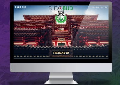 Digital 303 Marijuana Website Design: Budo Bud