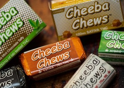 Digital 303 Custom Cannabis Product Photography: Cheeba Chews Chocolates