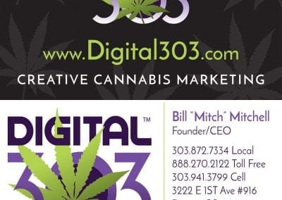 Digital 303 Custom Cannabis Business Cards & Marijuana Business Marketing