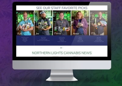 Digital 303 New Custom Marijuana Website Design: Northern Light Cannabis Co.