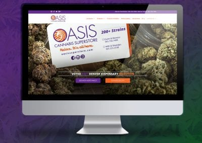 Marijuana Website Design Oasis Cannabis Superstore