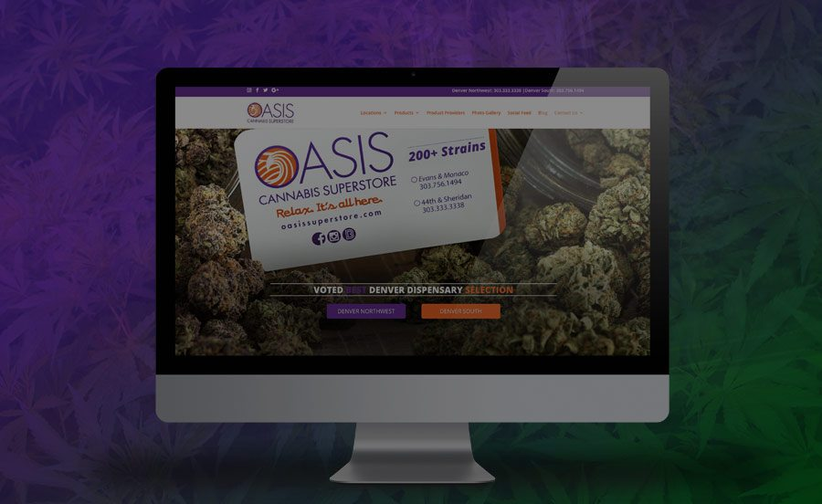 Cannabis Marketing & Marijuna website design: Oasis Cannabis Superstore