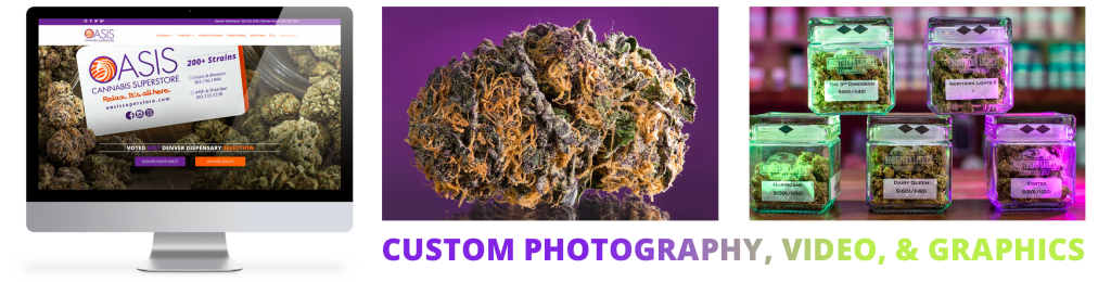 Website Design and Photography and Video for Marijuana